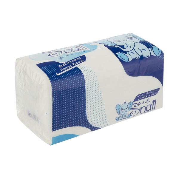 دستمال کاغذی 250 برگ اسنیل کد 008