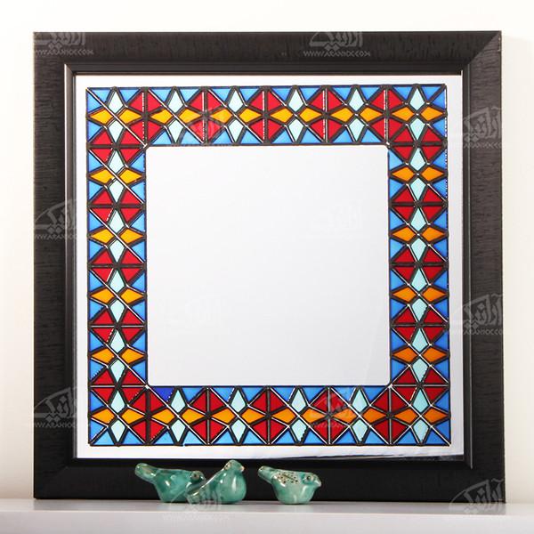 آینه ویترای  رنگارنگ طرح پنجره مدل 1509800004