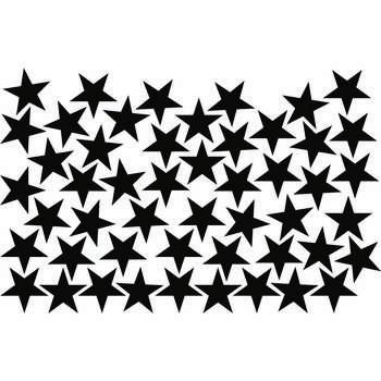 استیکر دیواری طرح ستاره مدل 01 بسته ۵۰ عددی