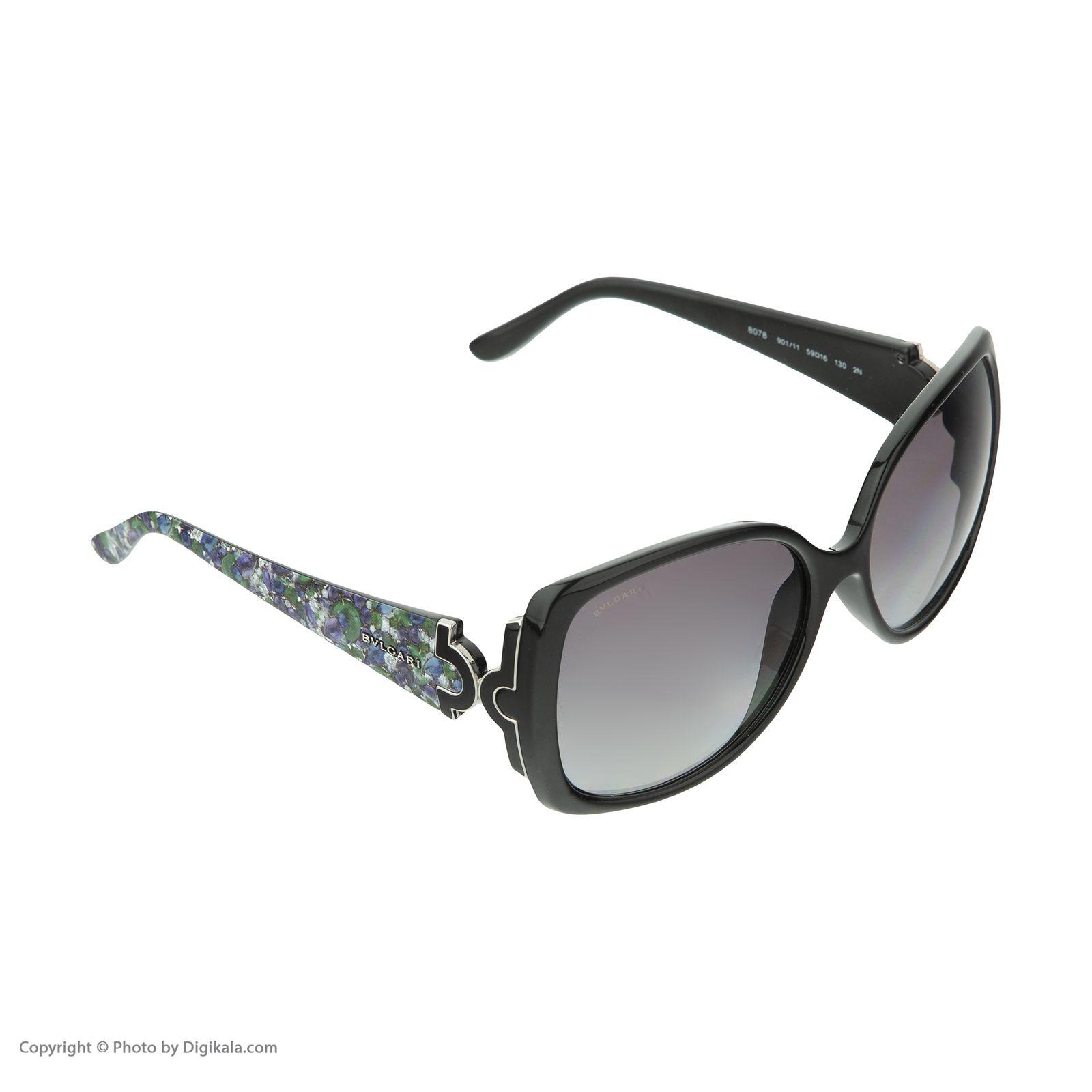 عینک آفتابی زنانه بولگاری مدل BV8078S 90111 -  - 4