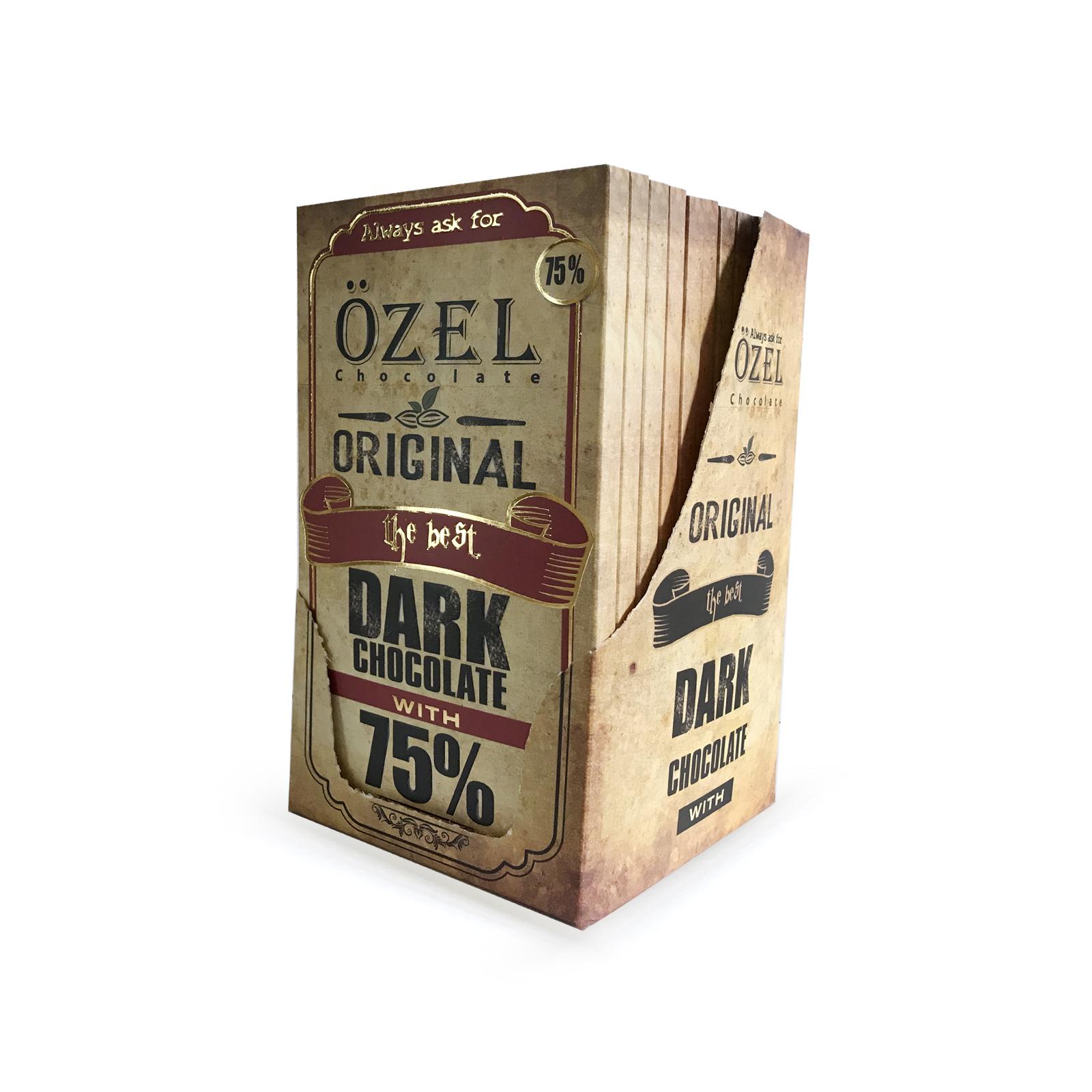 شکلات تلخ 75 درصد کرال بسته 12 عددی