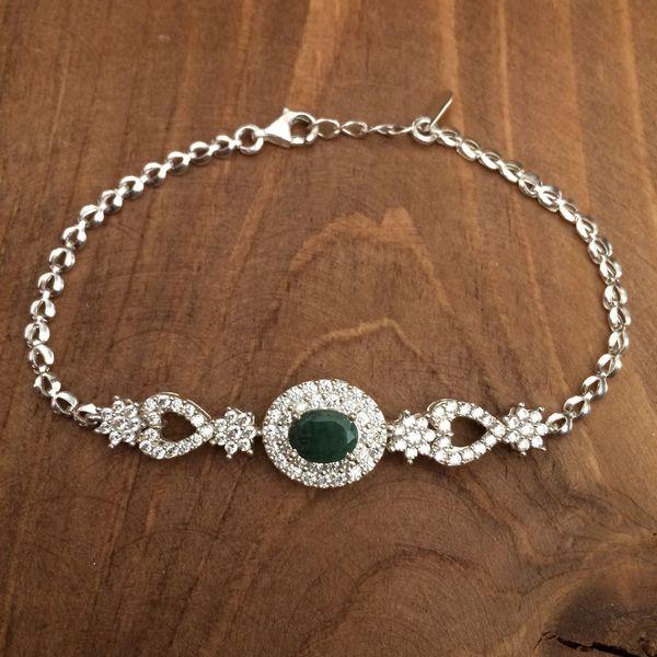 دستبند نقره زنانه کد 3048