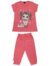 ست تی شرت و شلوارک دخترانه طرح LOL کد 1402 -  - 1
