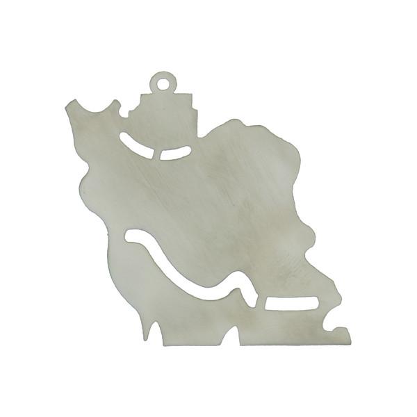 آویز گردنبند هنرکده دارینا طرح نقشه ایران کد SH0006