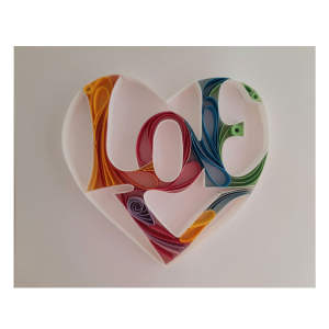 تابلو ملیله کاغذی مدل Love 1