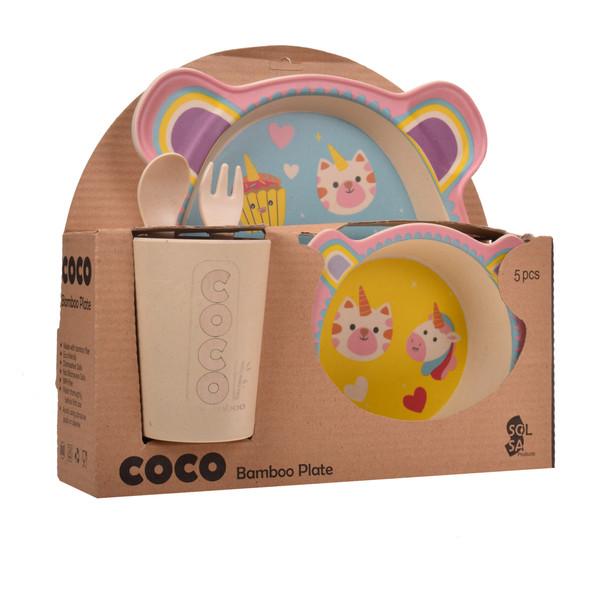 ظرف غذا 5 تکه کودک کوکو مدل Unicorn