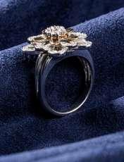 انگشتر طلا 18 عیار جواهری سون مدل 1707 -  - 2