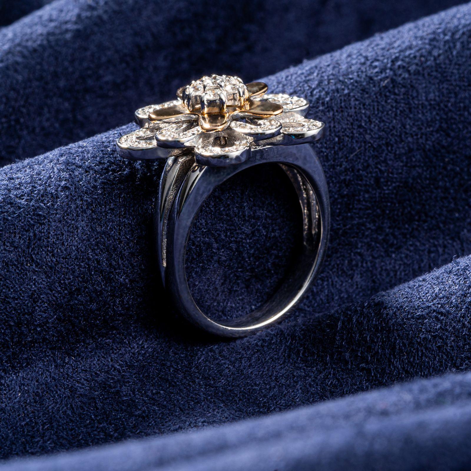 انگشتر طلا 18 عیار جواهری سون مدل 1707 -  - 3