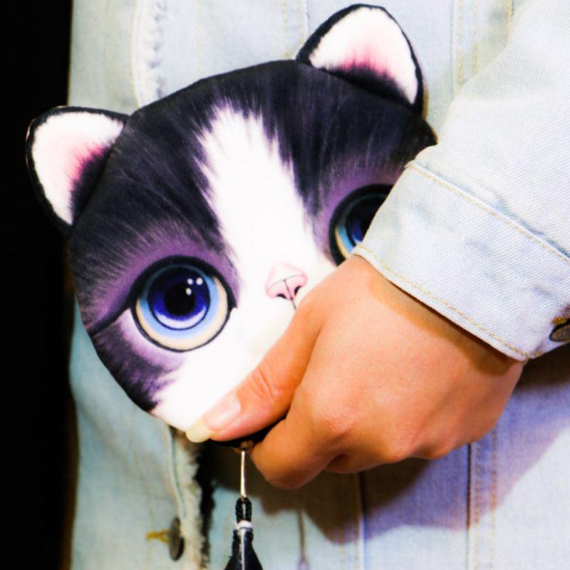 کیف پول دخترانه طرح گربه مدل C-13BK -  - 7