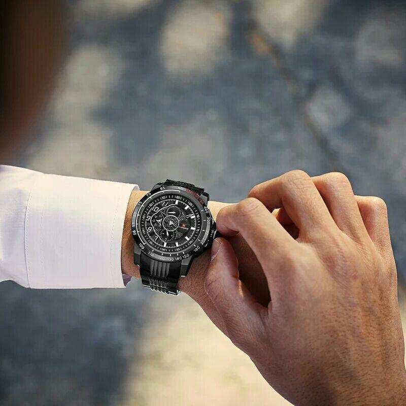 ساعت مچی عقربهای مردانه نیوی فورس مدل NF9180 B-W-B