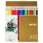 مداد رنگی 24 رنگ فکتیس مدل TRAIN