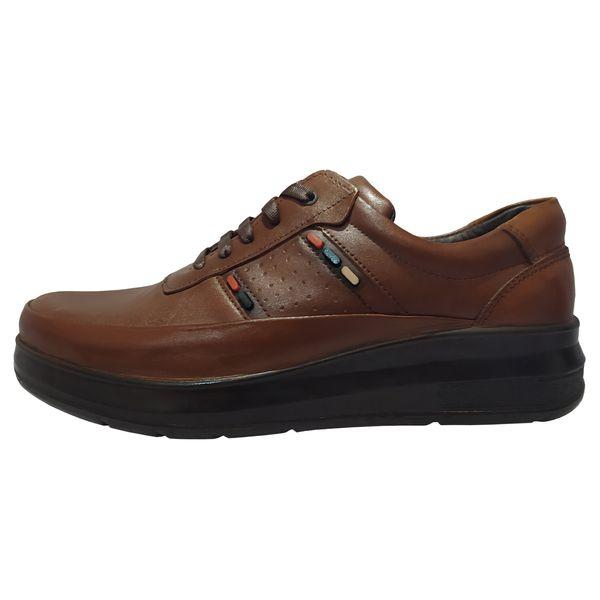 کفش طبی مردانه چرم تبریز مدل آکسفورد رنگ قهوه ای