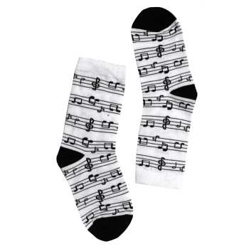 جوراب زنانه طرح موسیقی کد 005
