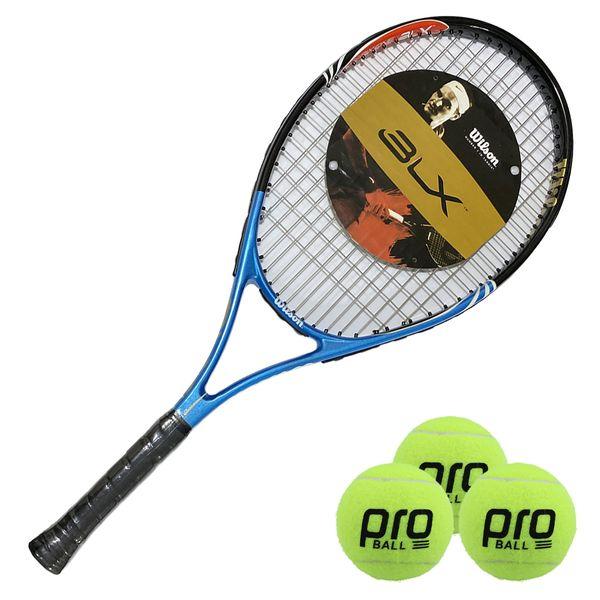 راکت تنیس مدل BLX PRO ONE به همراه توپ غیر اصل
