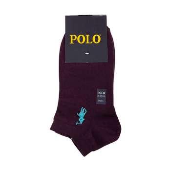 جوراب مردانه مدل P-2020 رنگ بادمجانی