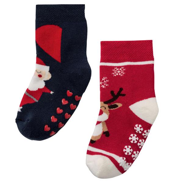 جوراب بچگانه لوپیلو طرح کریسمس کد 13 مجموعه دو عددی