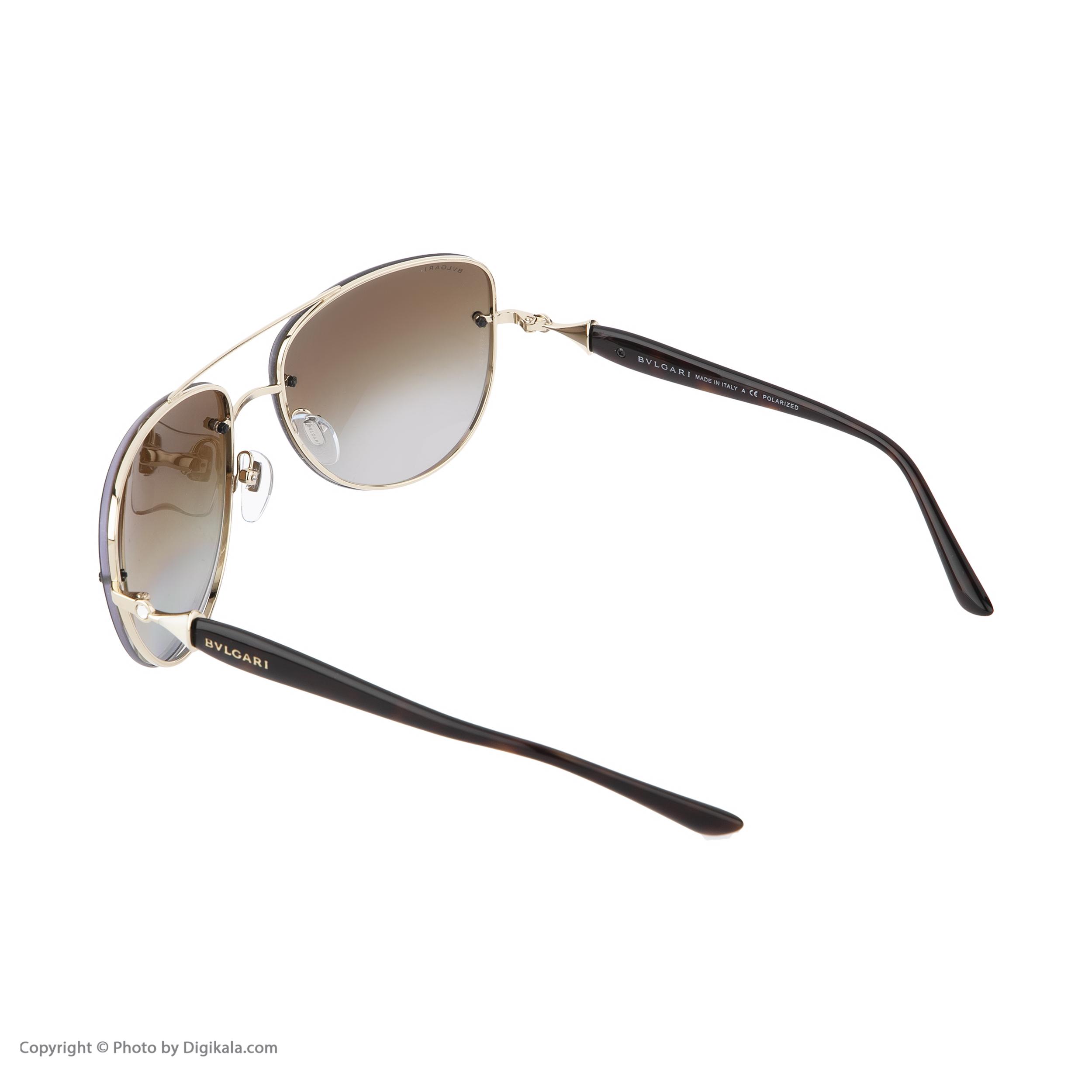 عینک آفتابی مردانه بولگاری مدل BV6086B 0278T5 -  - 5