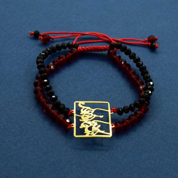 دستبند طلا 18 عیار زنانه کانیار گالری مدل B41