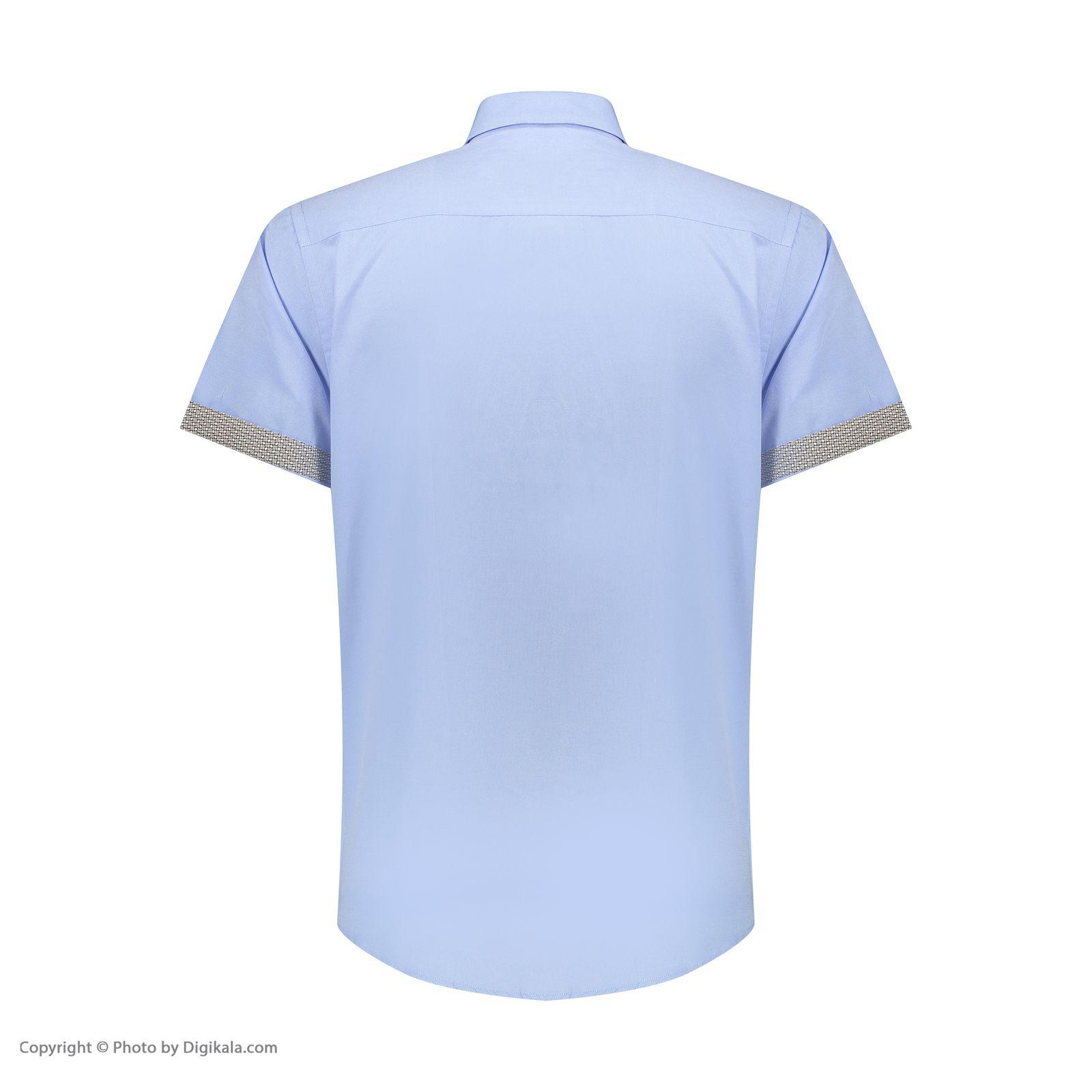 پیراهن آستین کوتاه مردانه ان سی نو مدل جرارد رنگ آبی -  - 4