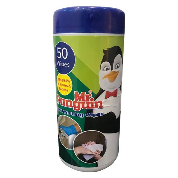 دستمال مرطوب مستر پنگوئن مدل 01 بسته 50 عددی