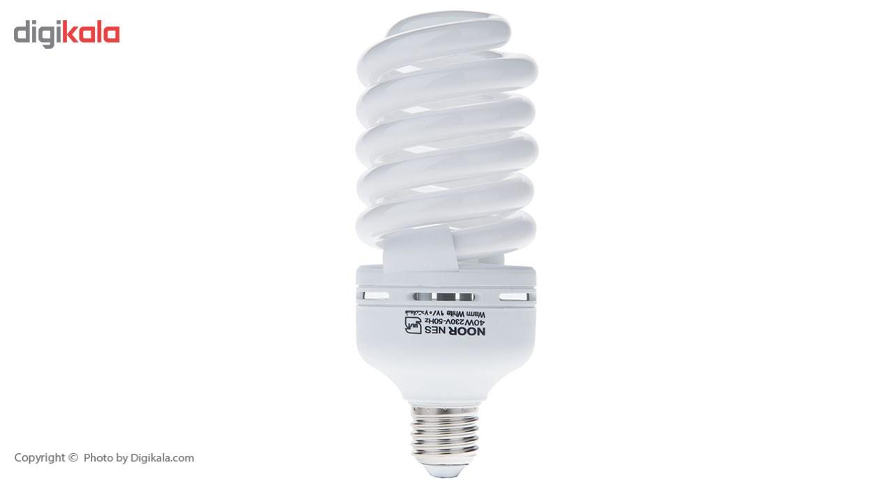 لامپ کم مصرف 40 وات نور مدل NES-FS-40W پایه E27
