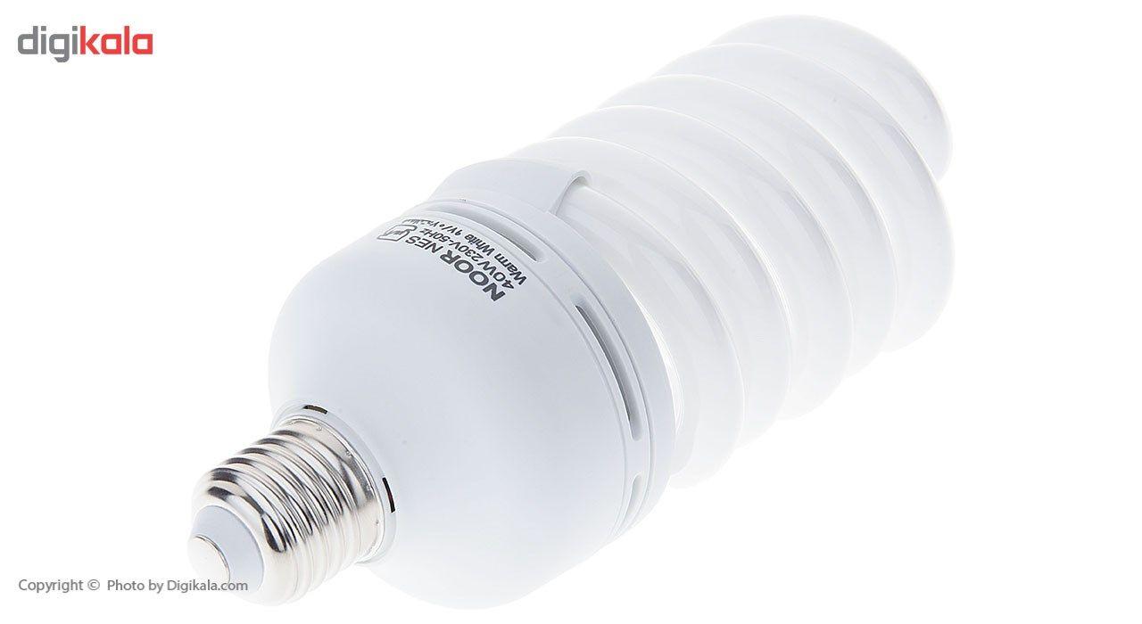 لامپ کم مصرف 40 وات نور مدل NES-FS-40W پایه E27 main 1 2