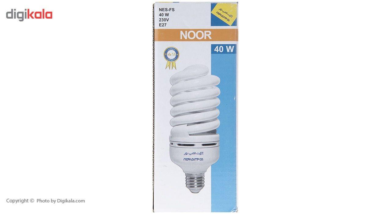 لامپ کم مصرف 40 وات نور مدل NES-FS-40W پایه E27 main 1 3