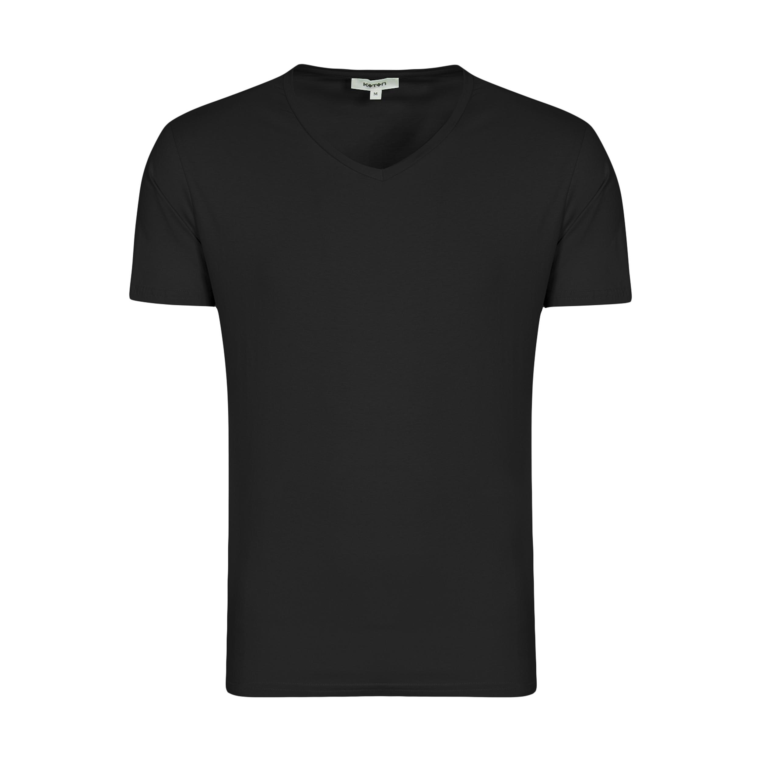 تیشرت آستین کوتاه مردانه کوتون مدل 0YAM12138LK رنگ مشکی