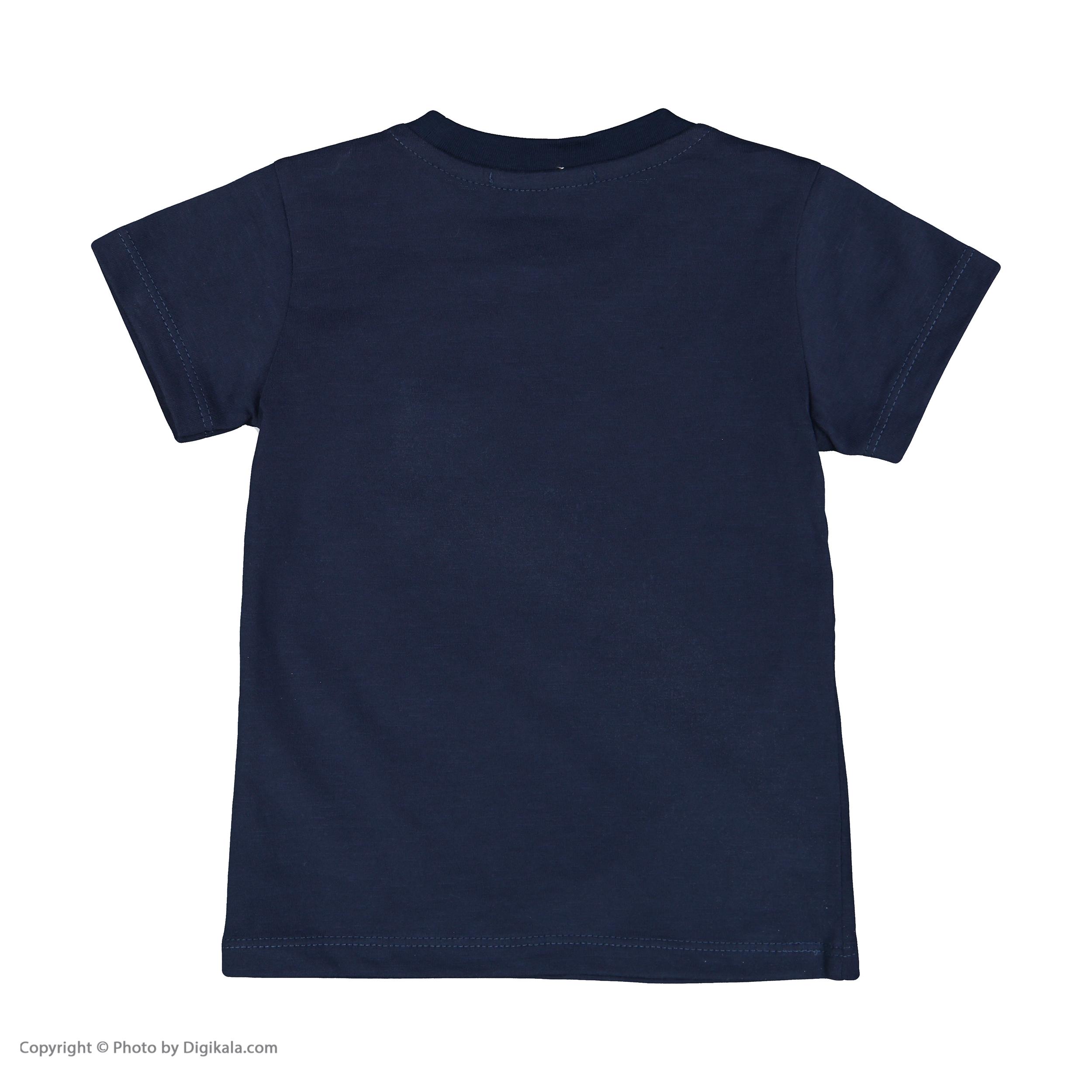 تی شرت پسرانه جاستیفای جونیور مدل K0442060TS-NAVY