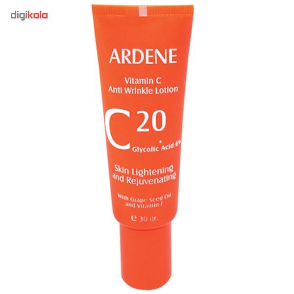 لوسیون ضد چروک آردن مدل Vitamine Cحجم 30 میلی لیتر  Ardene Vitamin C 20 Anti Wrinkle Lotion 30ml