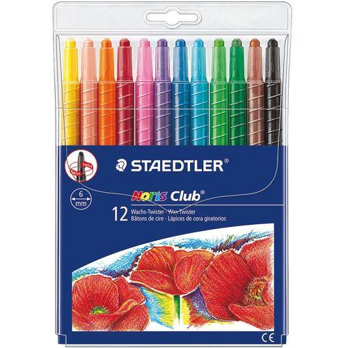 مداد شمعی 12 رنگ استدلر مدل Noris Club کد 221NWP12