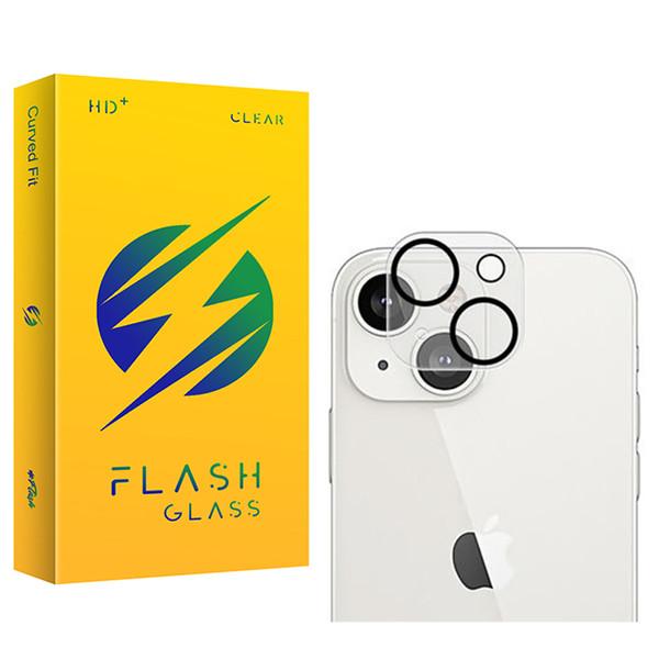 محافظ لنز دوربین فلش مدل Clear مناسب برای گوشی موبایل اپل iPhone 13