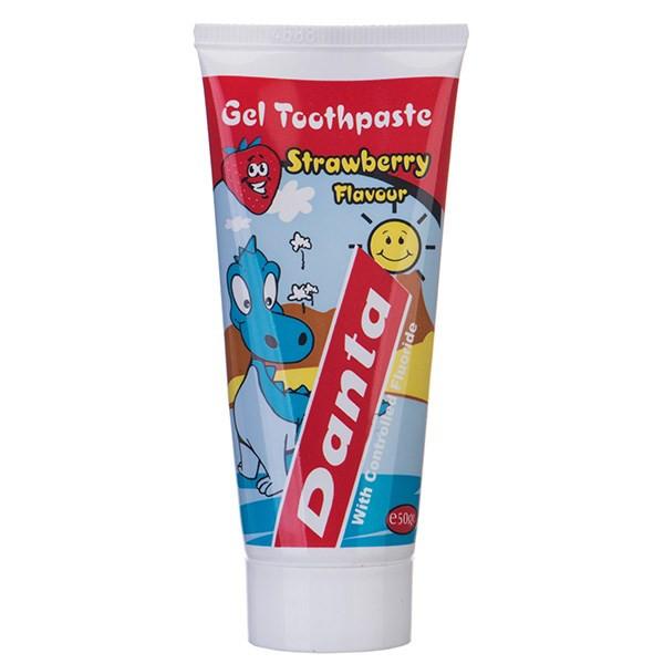 خمیر دندان بچه دانتا با عصاره توت فرنگی مقدار 50 گرم