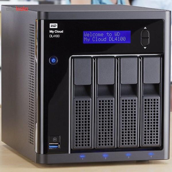 ذخیره ساز تحت شبکه وسترن دیجیتال مدل DL4100 دارای 4 سینی ظرفیت 24 ترابایت