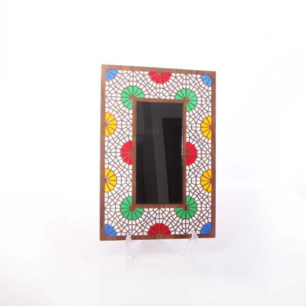 آینه چوبیآرانیک طرح گره چینی کد 1509700011