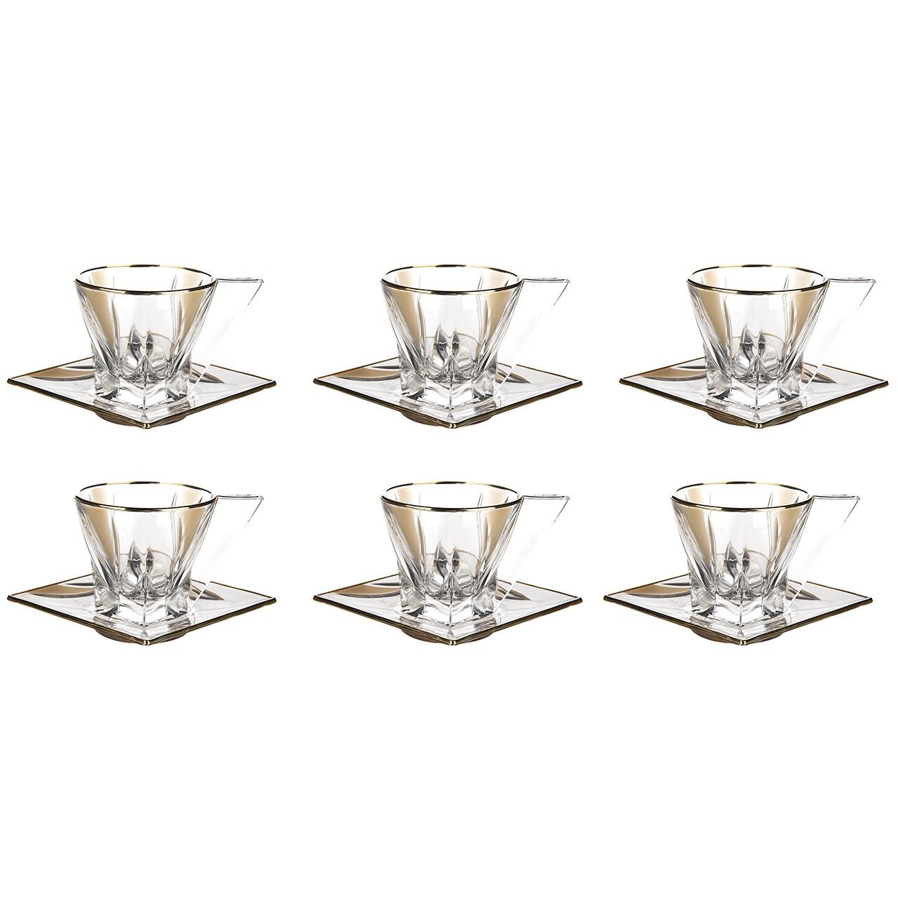 ست فنجان و نعلبکی آر سی آر مدل Fusion - بسته 6 عددی