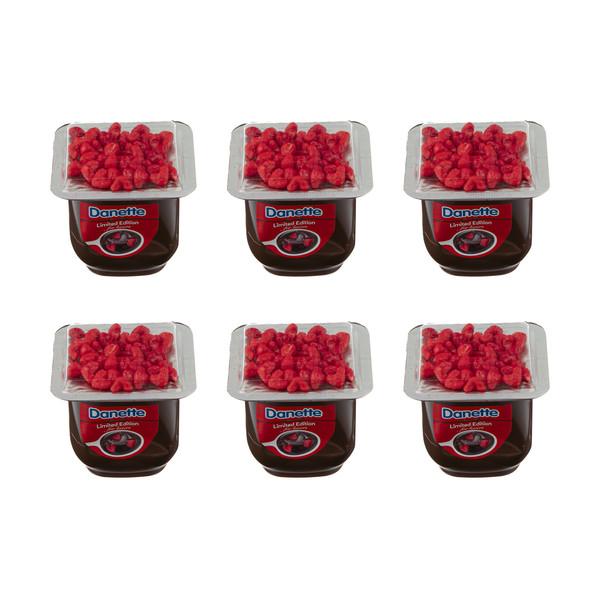 دسر شکلاتی دنت به همراه تاپر قلبی - 100 گرم بسته 6عددی