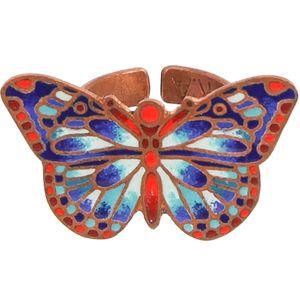 انگشتر مسی مینا گالری آراسته کد 181039 طرح پروانه