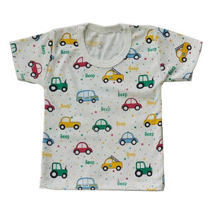 تی شرت آستین کوتاه نوزادی مدل ماشین