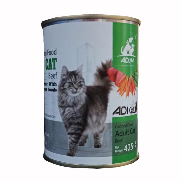 غذای کنسرو گربه آدی مدل Beef_425 وزن ۴۲۵ گرم
