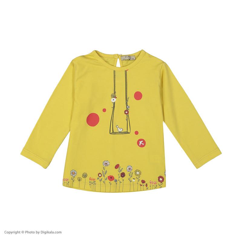 ست تی شرت و شلوار نوزادی دخترانه پیانو مدل 1009009801097-16