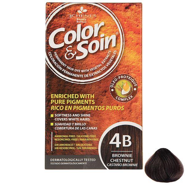کیت رنگ مو کالر اند سوان سری Brown شماره 4B