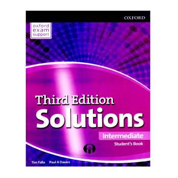 کتاب Solutions Intermediate Third Edition اثر Tim Falla And Paul A Davies انتشارات الوندپویان