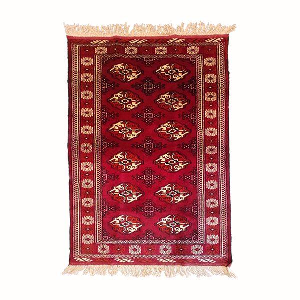 فرش دستباف یک و نیم متری مدل ترکمن کد 6006