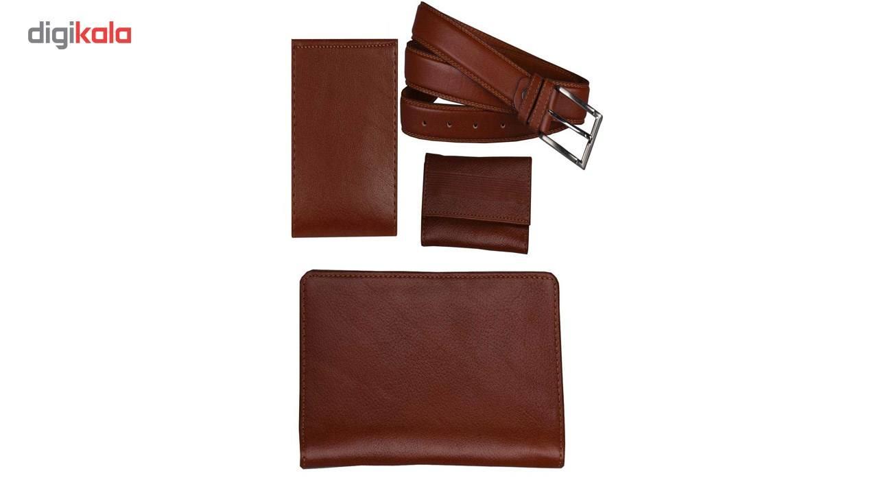 ست هدیه کهن چرم مدل M12-1  Kohan Leather M12-1 Gift Set