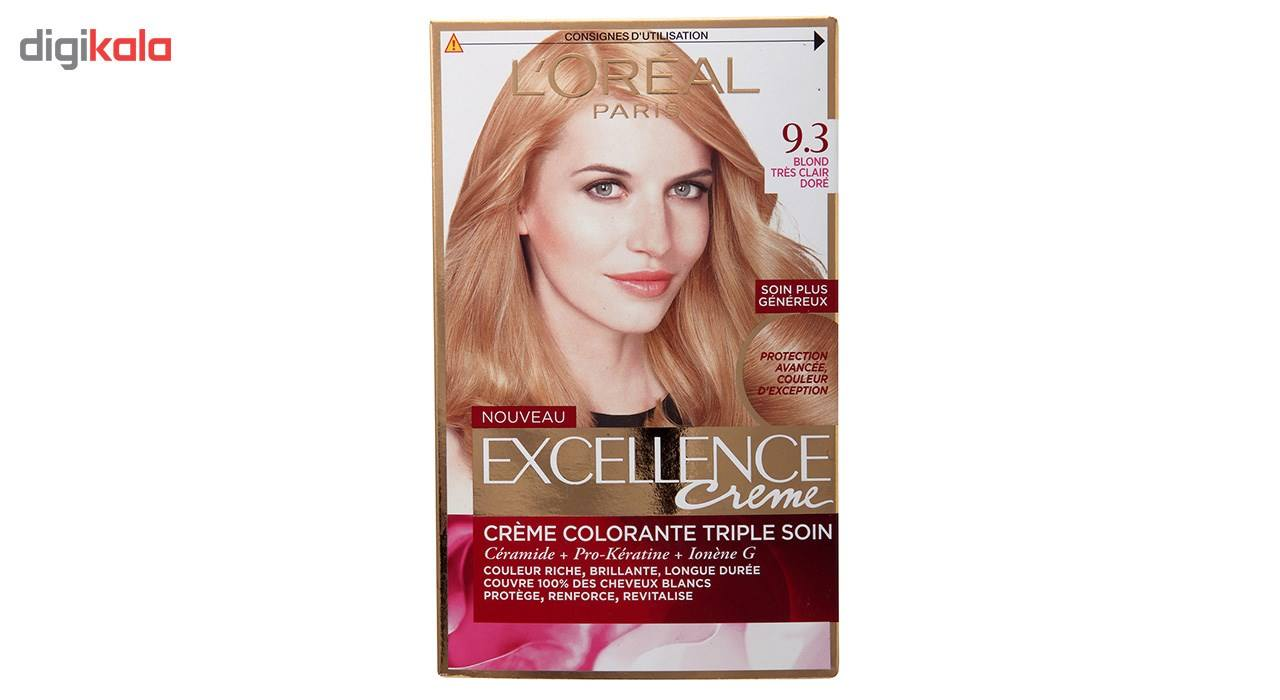 کیت رنگ مو لورآل شماره 9.3 Excellence main 1 1