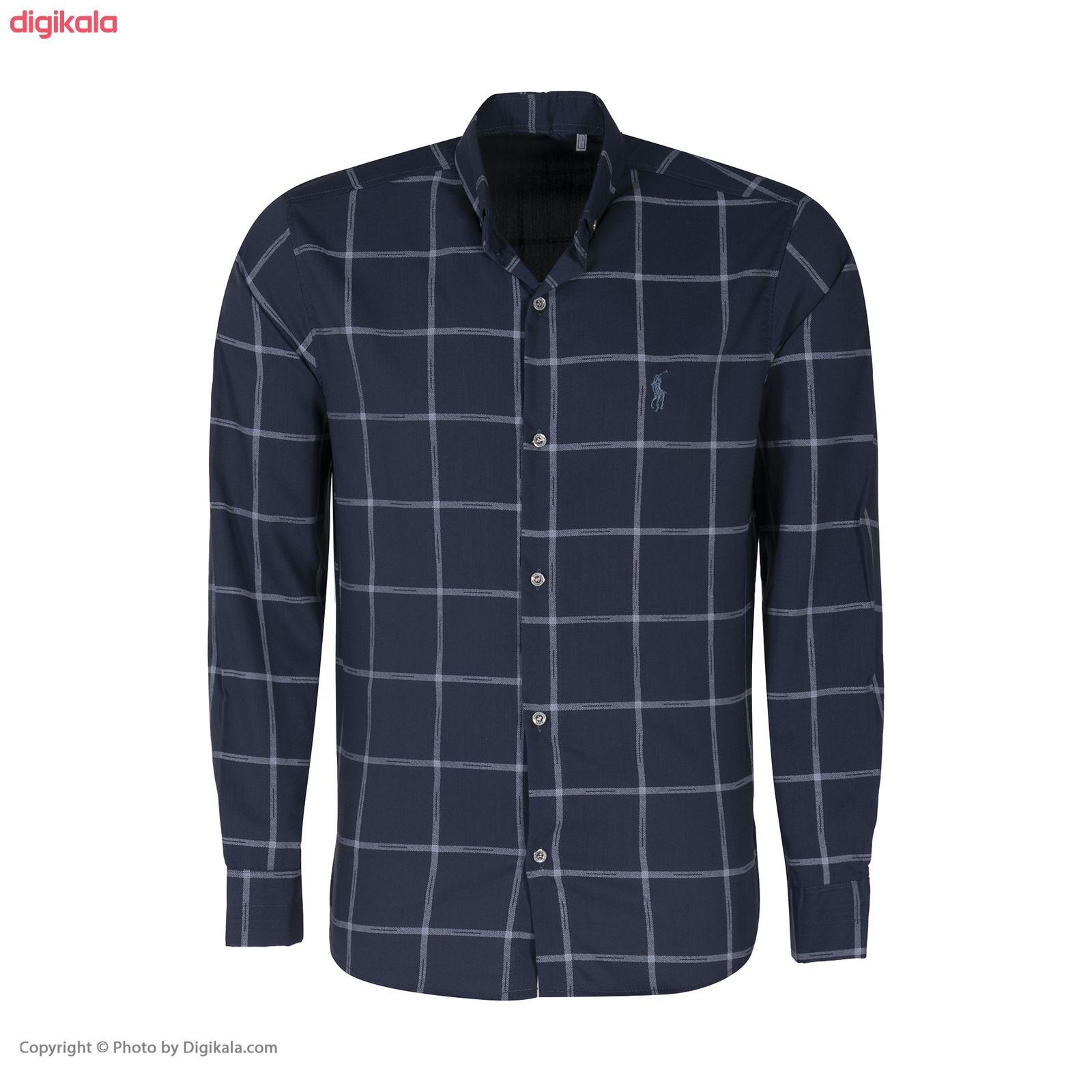 پیراهن آستین بلند مردانه مدل 9909 main 1 3
