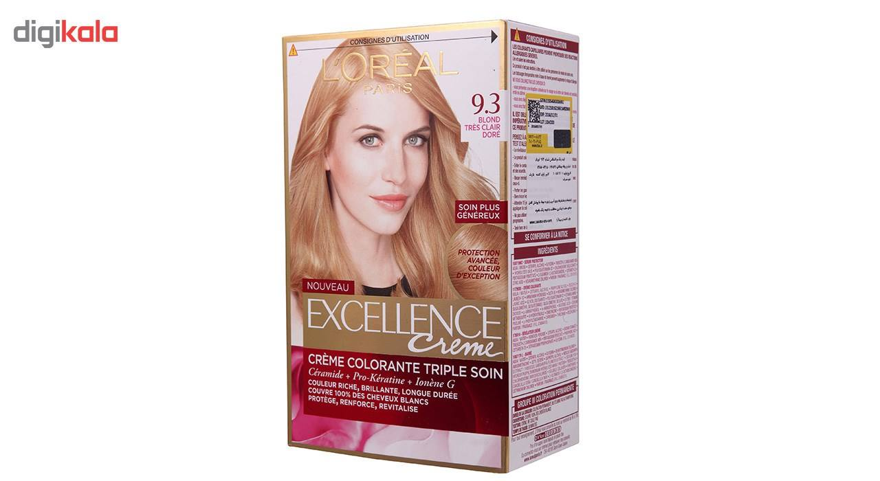کیت رنگ مو لورآل شماره 9.3 Excellence main 1 2