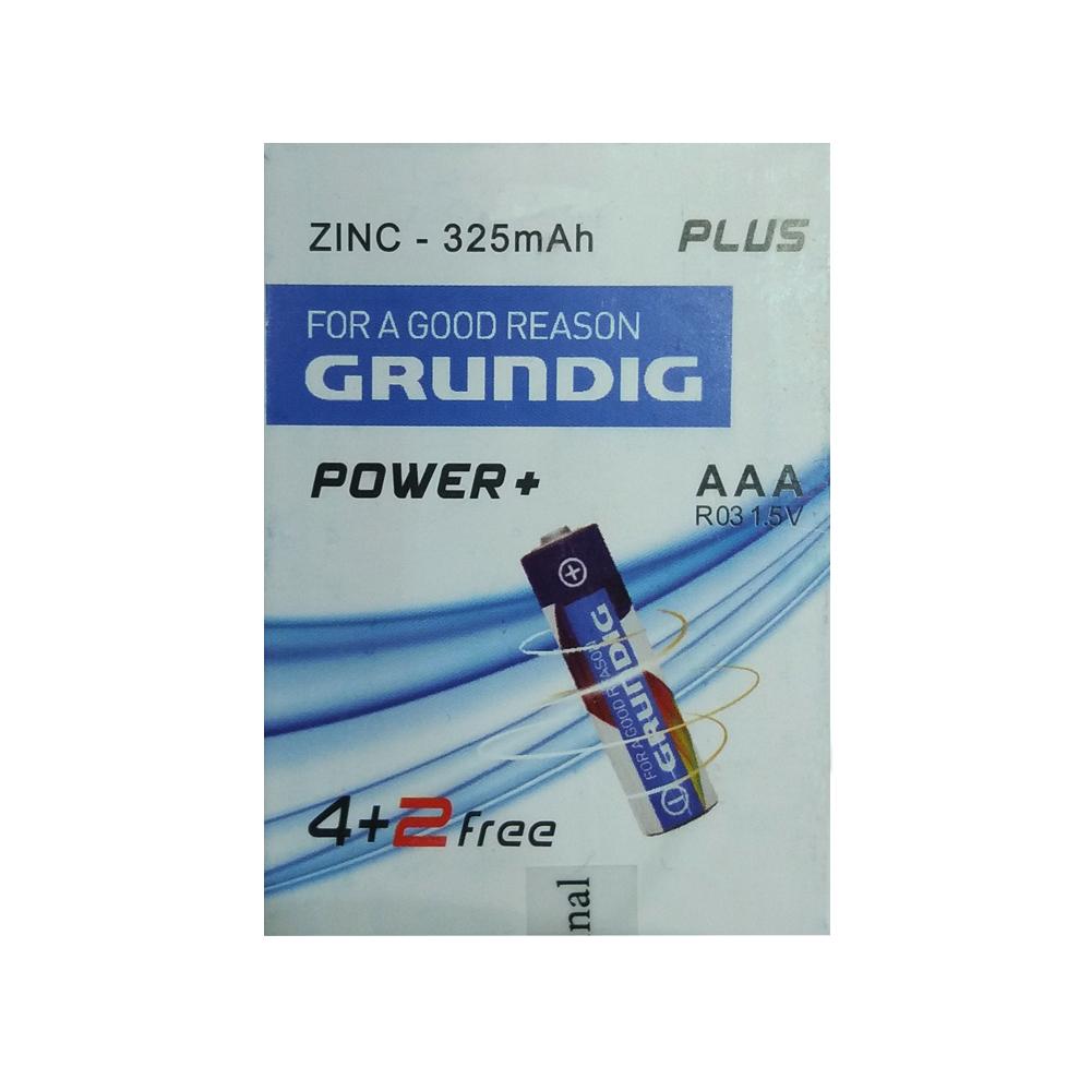 باتری نیم قلمی گروندیک کد 142237 بسته 6 عددی