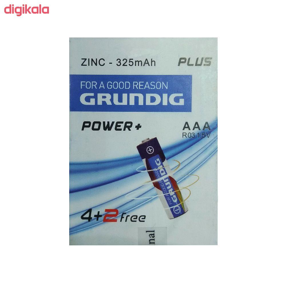 باتری نیم قلمی گروندیک کد 142237 بسته 6 عددی main 1 1